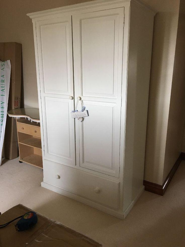 White Solid Wood Wardrobe
