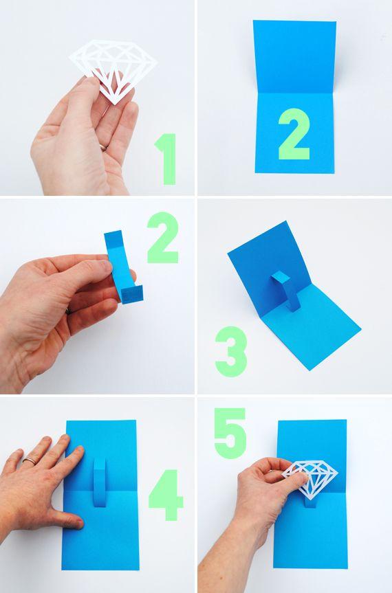 You're a gem // papercut card // minieco