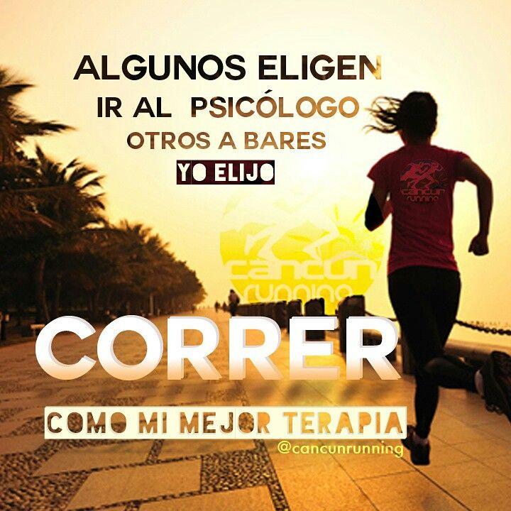 Algunos eligen ir al psicólogo, otros a bares, yo elijo CORRER #motivacion #correr #running