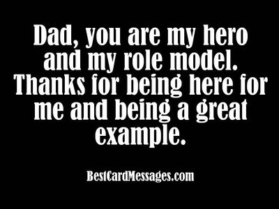 Examples of what to write in a Father's Day card. #wishes #messages #Cards
