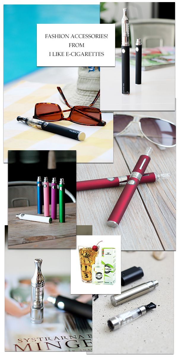 Fashion accessories! If you are into fashion, then of course you want fashionable e-cigarettes when it comes to your smoking! You find top quality e-cig´s and the best e-liquid on the market at I Like E-cigarettes! http://www.ilikeecigarettes.com/blogs/e-cigarettes Why you should go over to e-cigarettes? - Much more healthy - no tar or carbon monoxide. - Do not stink like regular cigarettes. - No passive smoking. - Save $2000 per year. - No yellow teeth…
