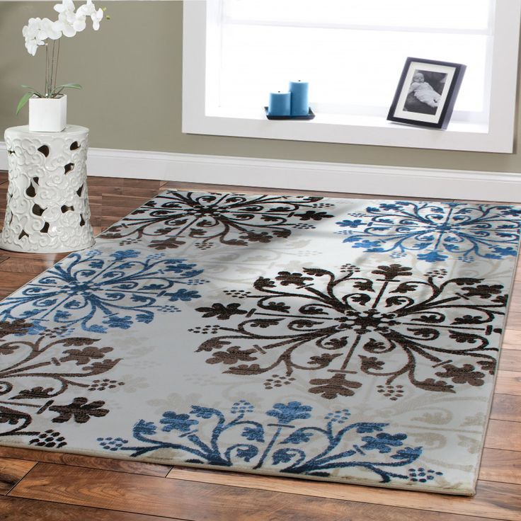 17 best ideas about blue brown bedrooms on pinterest for Dining room rugs 5x7