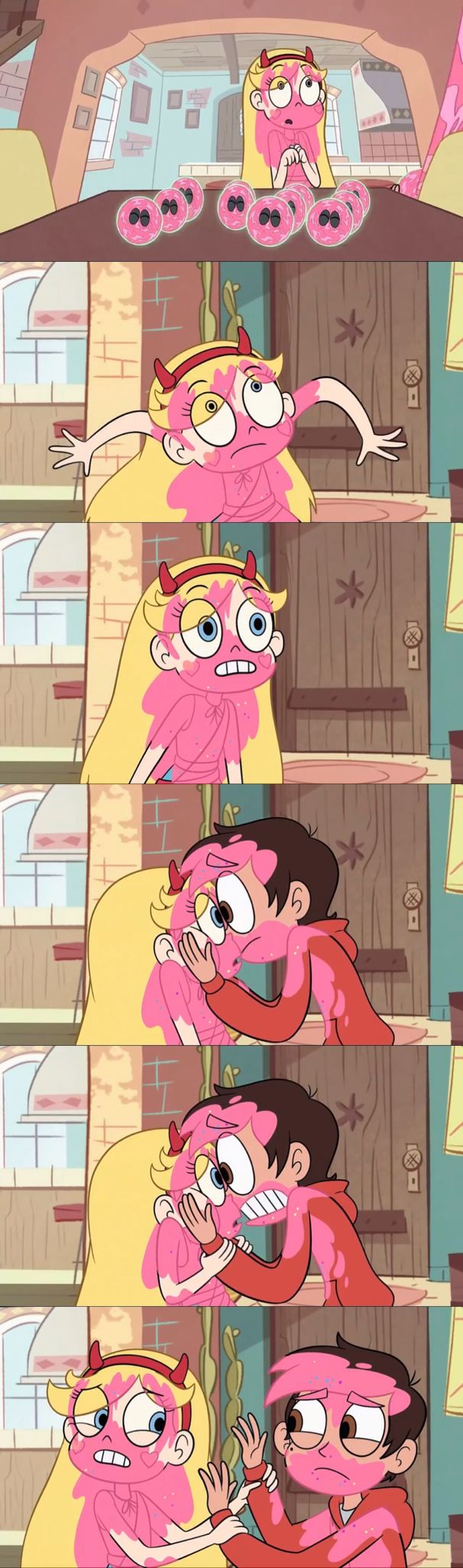 Starco!!! Marcos mouth is pretty much on the top of her lip in that 4th PHOTO!!!