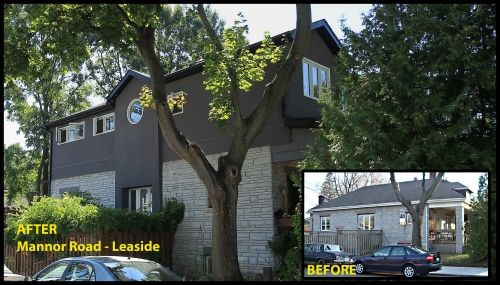 Before & After home renovation: Mannor Road- Leaside Ontario CAN #renovation #modularhome