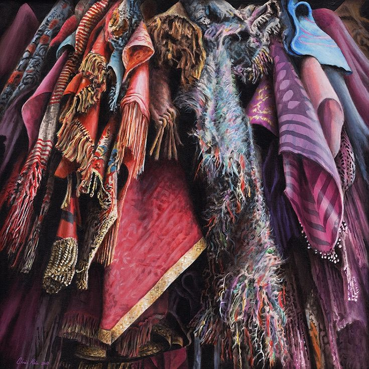 """""""Costumes from the Stratford warehouse No22"""", acrylic on canvas, 85x85cm unframed"""