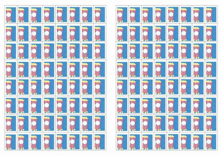 Movie FREE themed printable stickers