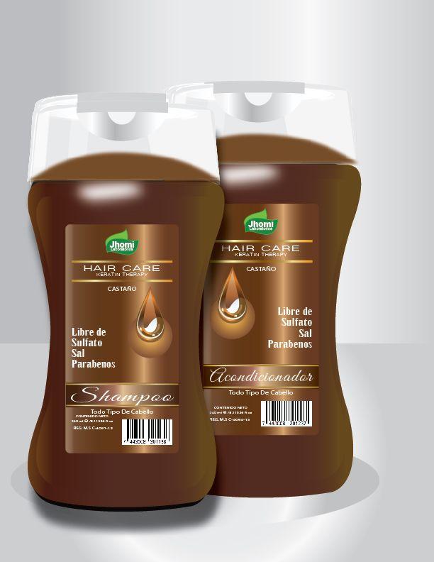 El Shampoo y Acondicionador Castaño Hair Care libre de sulfato están indicados para cabellos dañados, debilitados por la decoloración de químicos o maltratados y peinados con calor; dando al cabello hidratación y docilidad .
