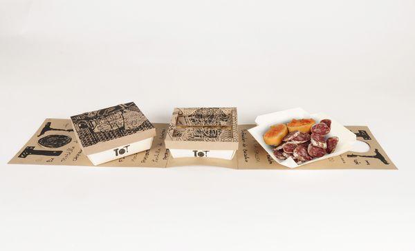 TOT Take-away Packaging by Gloria Kelly, via Behance