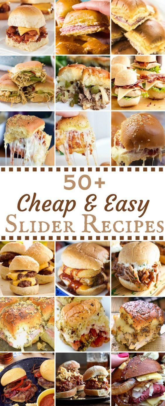 50 Cheap & Easy Slider Recipes