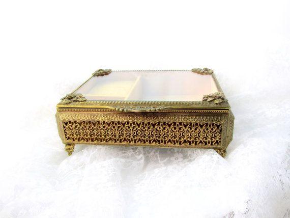 Vintage Music Jewelry Box Ornate Art by SunburyVintageStore