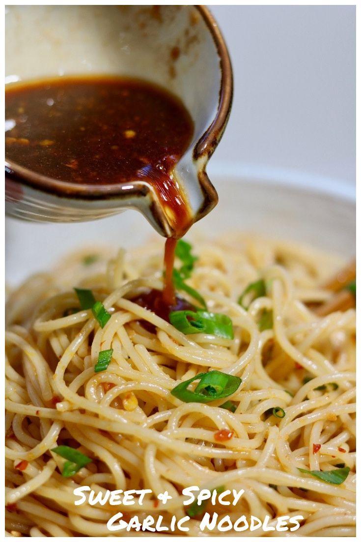 Sweet & Spicy Garlic Noodles