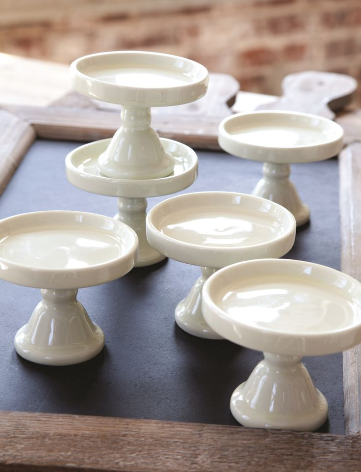 Creamware Cupcake Stands