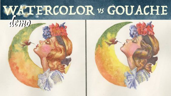 Watercolor Vs Gouache Painting With Grisaille Dessin Croquis Art
