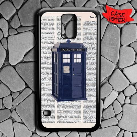 Dictionary Tardis Doctor Who Samsung Galaxy S5 Black Case