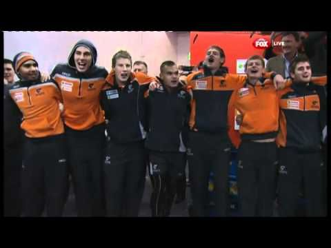 GWS Giants sing their song after scoring their first-ever #AFL win ~ worth pinning!
