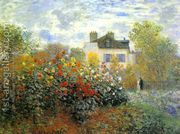 The Garden At Argenteuil Aka The Dahlias by Claude Oscar Monet