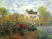 The Garden At Argenteuil Aka The Dahlias  by Claude Oscar Monet