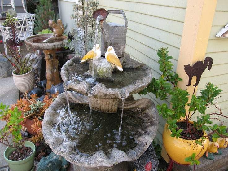 thrown-together fountain