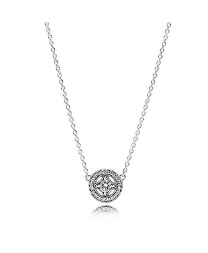 Pandora Vintage Allure Necklace 590523CZ On Sale