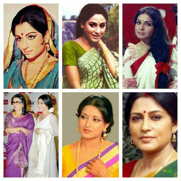 Bengali  beauties of Bollywood:  Sharmila Tagore, Jaya Bhaduri,Rakhee ,Aparna sen with her daughter  konkana Sen,Moushmi Chaterji,Roopa Ganguly