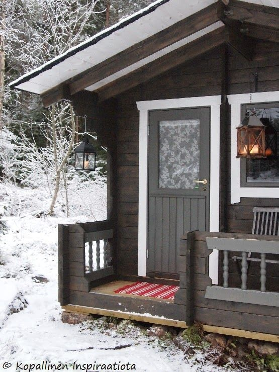 Sauna - ulkosauna - outdoor sauna - winter - snow