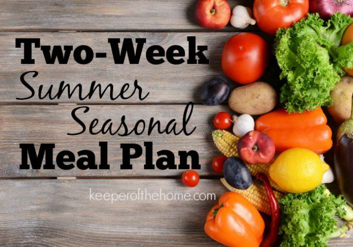 Getting bored with your usual recipes? or need more inspiration to use up seasonal fruits and veggies? Start with this Summer Meal Plan!
