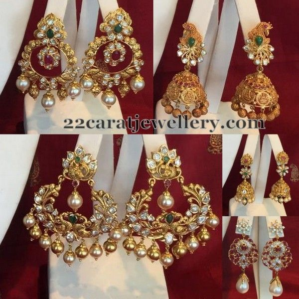 Jewellery Designs: Unique Earrings by Shree Jewellers