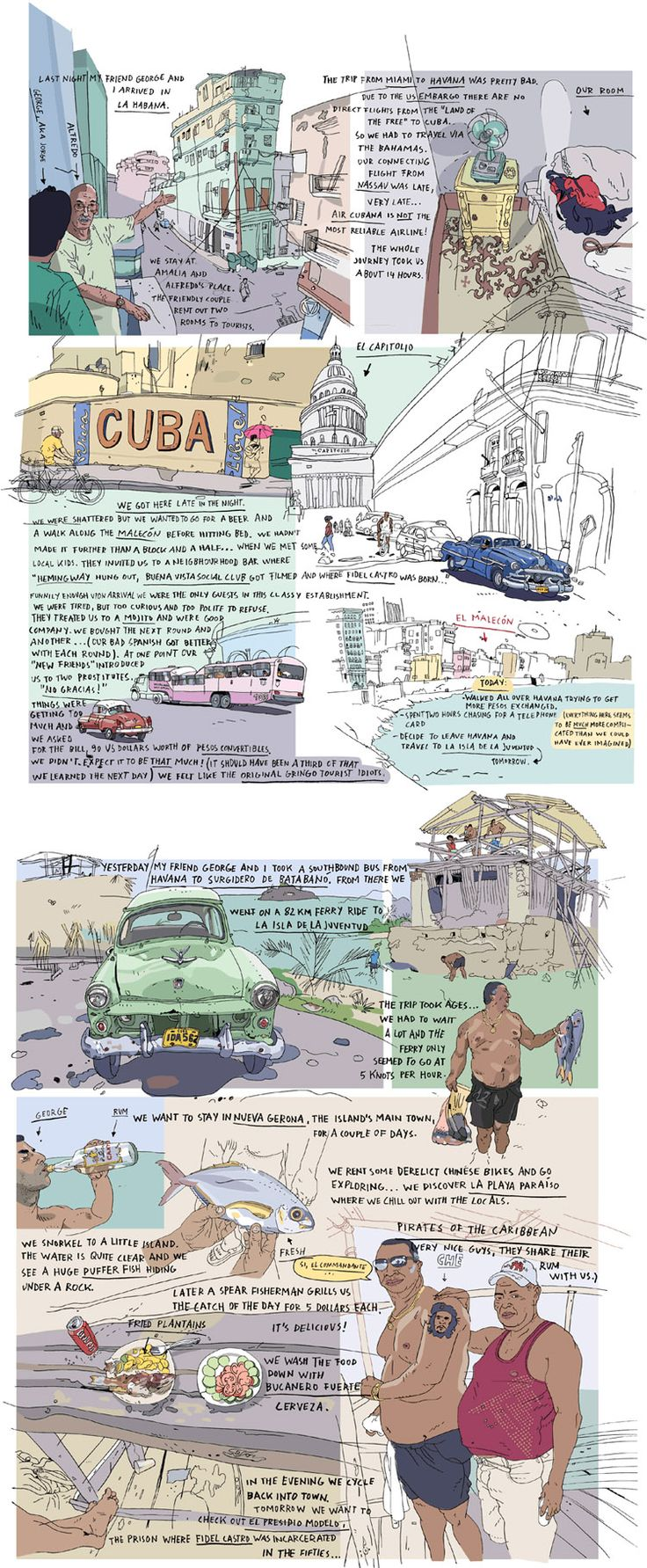 Travel Journal - Olivier Kugler - Cuba    http://www.olivierkugler.com/