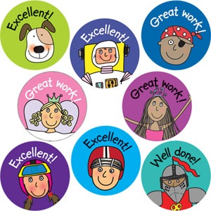 Reward Stickers. It's healthy to boost your kid's morale as often as possible. Appreciate all their hard work!