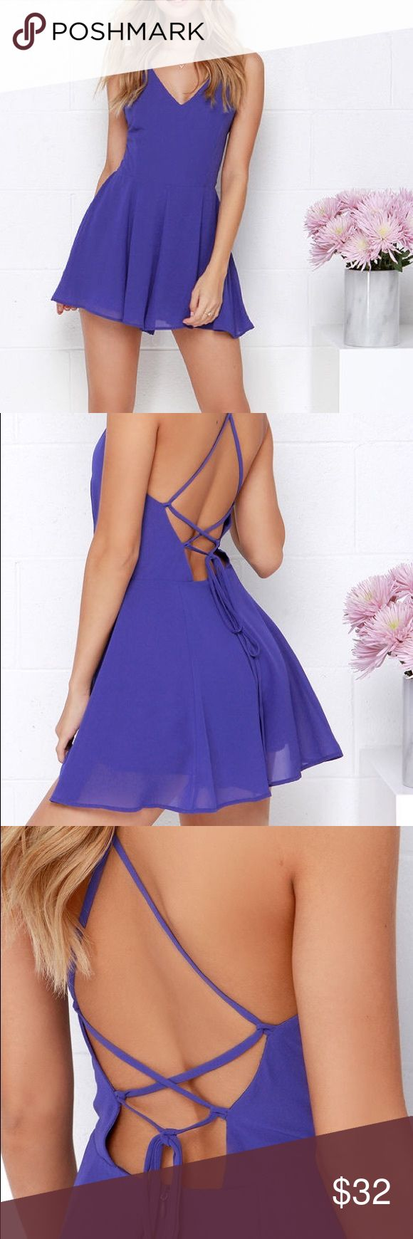 romper \\ lush Through every season and for every occasion, the Bring it Back Royal Blue Backless Romper will be your go-to look! Royal blue Georgette lays a sleek foundation starting at a strappy triangle bodice that falls to darting at the fitted waist. Skinny straps crisscross then tie over the sexy open back, with the attached shorts finishing the look. Hidden back zipper. Fully Lined, 100% Polyester. *i also have in red Lush Pants Jumpsuits & Rompers