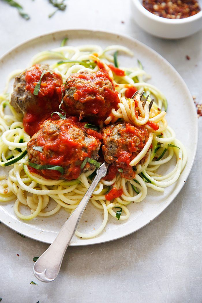Eggplant Meatballs with Courgetti