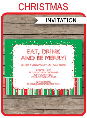 The 25+ best Christmas party invitation template ideas on Pinterest - party invite templates