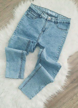 Kup mój przedmiot na #vintedpl http://www.vinted.pl/damska-odziez/dzinsy/16421002-baggy-skinny-rurki-marmurek-jeans-elastyczny-nowe-s-m-diy-obnizony-krok