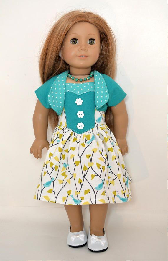 18 inch Doll Clothing fits American Girl Doll - 5 piece outfit includes shoes