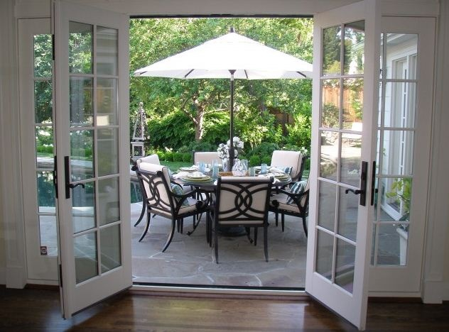 french doors and back patio