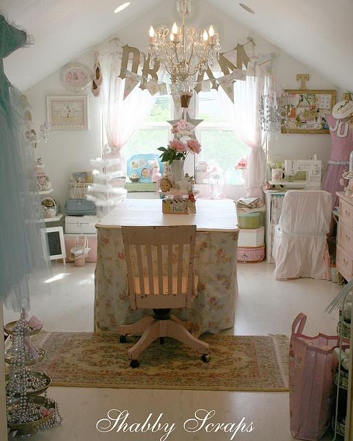 shabby chic craft room inspiration