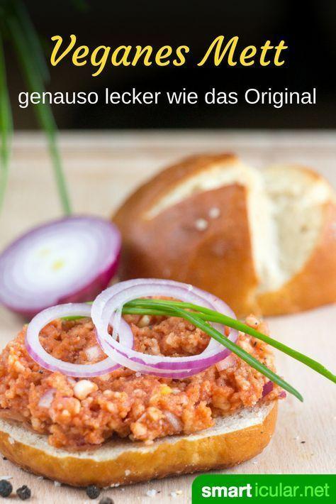 """""""Hackepeter"""" selber machen – ohne Fleisch, dafür mit Reiswaffeln"""