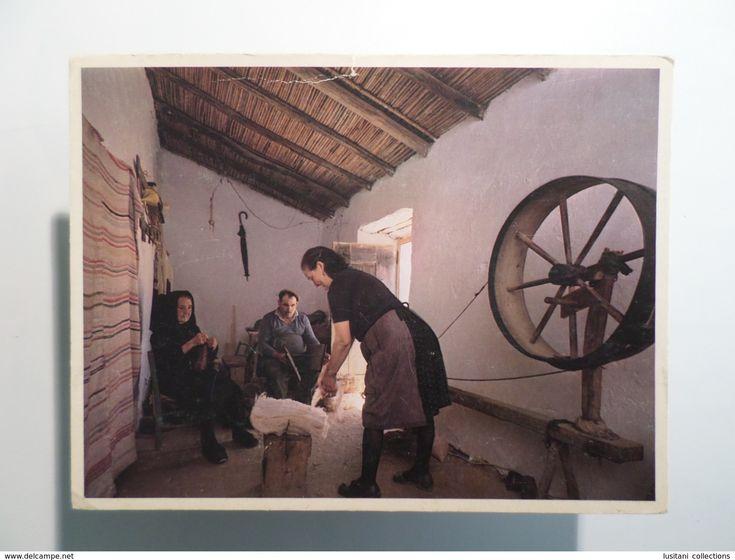 1980 YEARS PORTUGAL ALENTEJO CASTRO VERDE FIAÇÃO E CARDAGEM DE LÃ CARDAGE DE LAINE CARDING OF WOOL POSTCARD