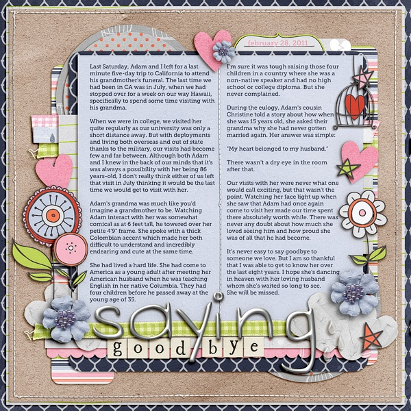 Saying goodbye i 39 ve got a scrappy for Farewell scrapbook template