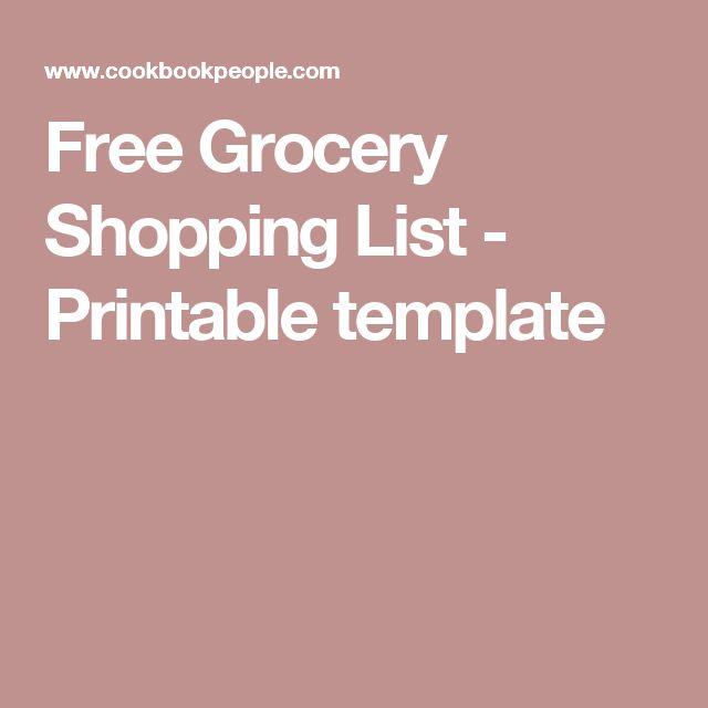 25+ ide Grocery list templates unik di Pinterest Diet paleo - grocery list templates