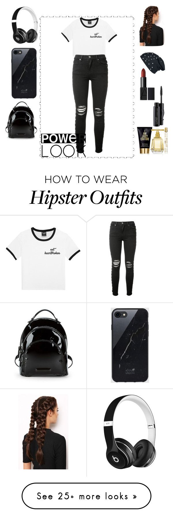 """""""Untitled #60"""" by ionelafashion on Polyvore featuring AMIRI, LullaBellz, Beats by Dr. Dre, Sefton, Kendall + Kylie, MAC Cosmetics and Juicy Couture"""