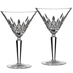 Waterford Lismore martini glasses. Perfection.