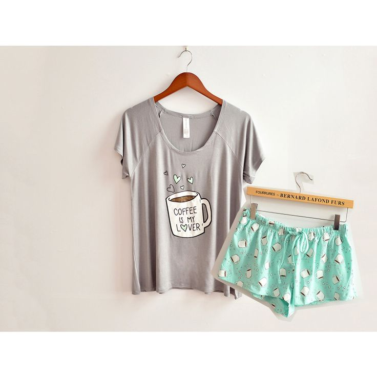 - Item Type: Pajamas - Pattern Type: Print - Brand Name: amy - Material: Cotton,Modal - Length: Shorts - Season: Summer - Collar: Round Neck - Sleeve Length: Short - Material Composition: cotton - Fab