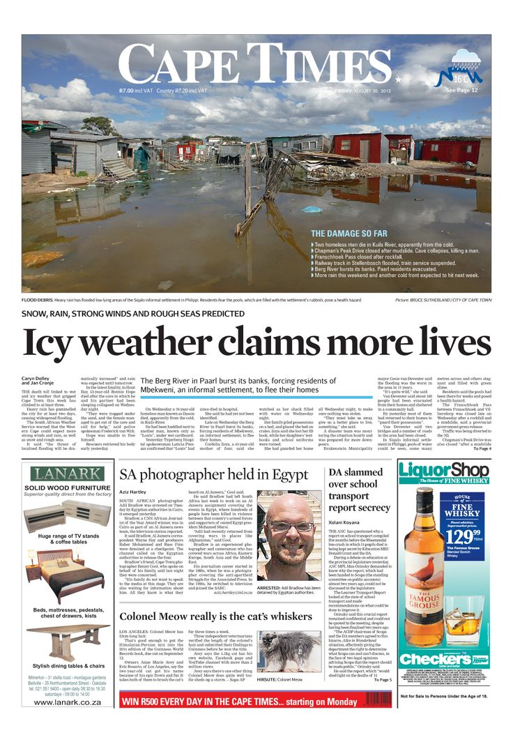 News making headlines: Icy weather claims more lives