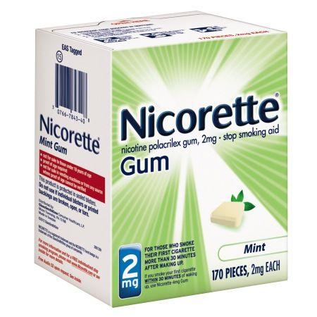 Nicorette Nicotine Gum, 2mg Mint - 170 ea