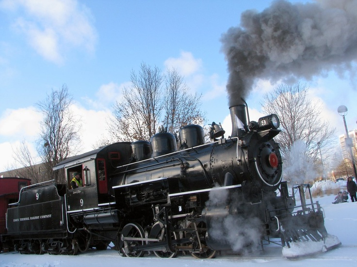 """The Waterloo Central Railway """"Family Day Weekend Steam Excursion"""" begins and ends at Waterloo Square    There will be another run on Monday February 18th (Family Day).  Check the website  for details"""