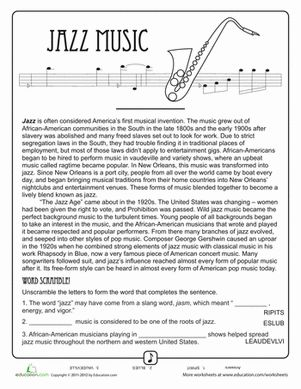 history and developments of jazz music essay Free essay on history of jazz music available totally free at echeatcom, the largest free essay community new to american music history and the development of.
