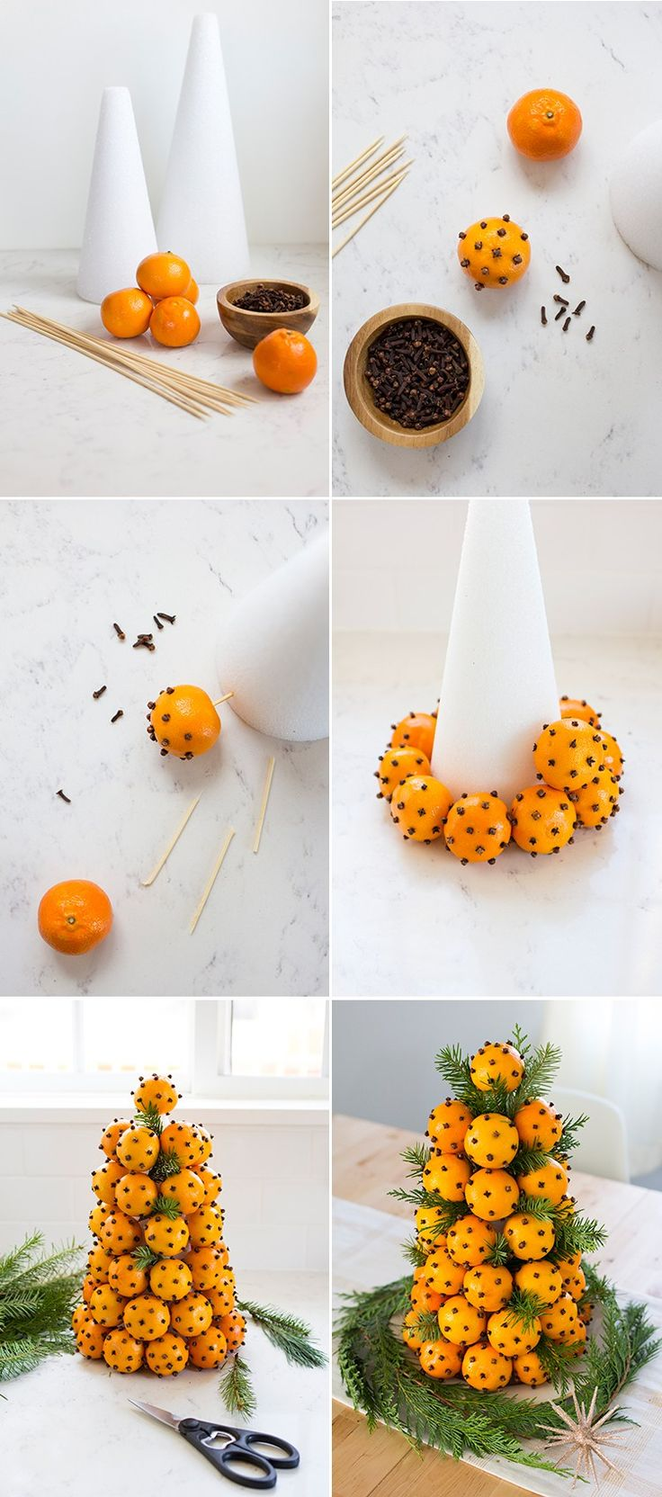 Orange Clove Holiday Topiary