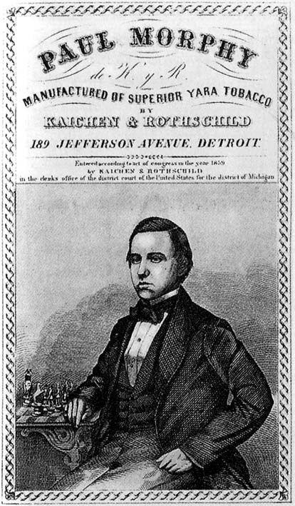 Pubblicità di un'industria di tabacco del 1859 ritraente Paul Morphy. #Chess #PaulMorphy