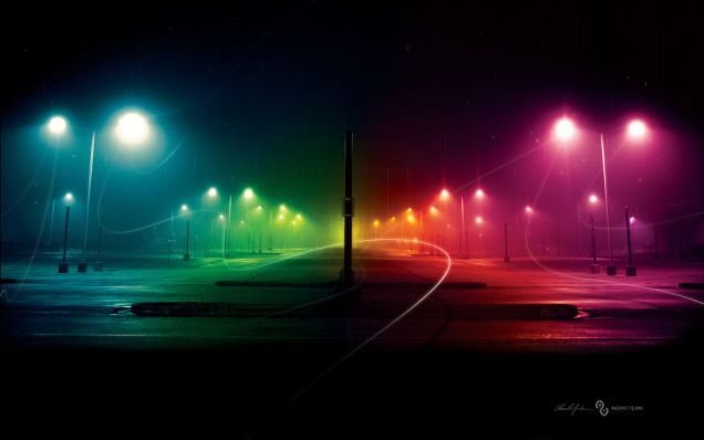 Shooting Challenge Rainbow Lights Dark wallpaper
